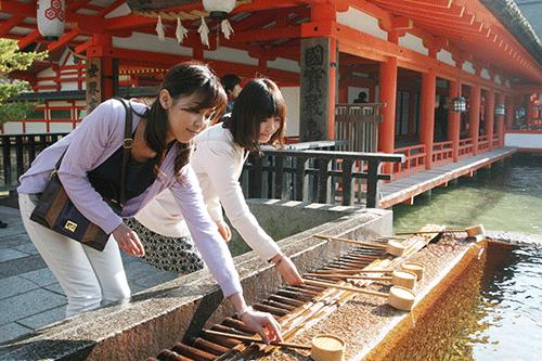 厳島神社 手水