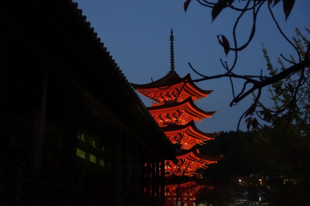 五重塔夜景5